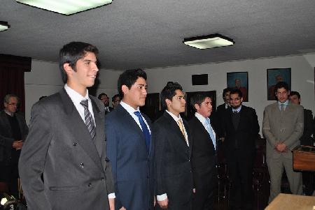 INGRESO DE NUEVOS VOLUNTARIOS Y ELECCIÓN DE AYUDANTE EN SESIÓN DEL 30 DE JUNIO