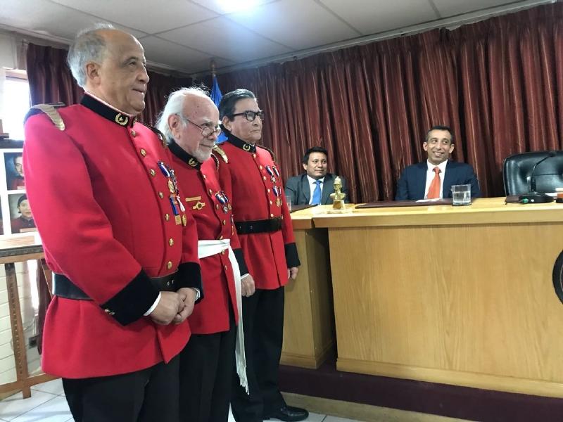 """NUEVO MIEMBRO DE UNIDAD SIMBÓLICA """"DIRECTOR HONORARIO HEBERTO VALENCIA GUEVARA"""""""