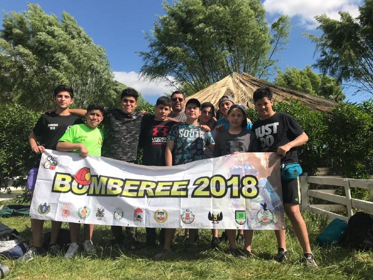 NUESTRA BRIGADA JUVENIL PARTICIPA EN EL BOMBEREE 2018 DE BRIGADAS JUVENILES DE ÑUÑOA