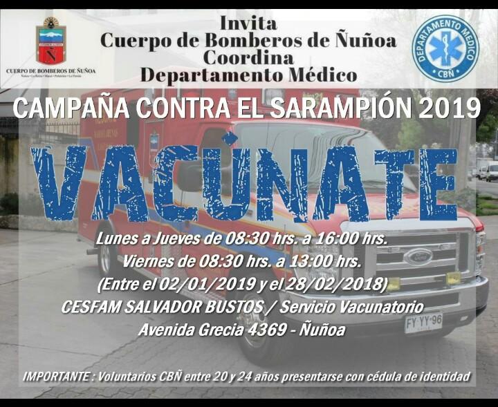 CAMPAÑA DE VACUNACION CONTRA EL SARAMPION