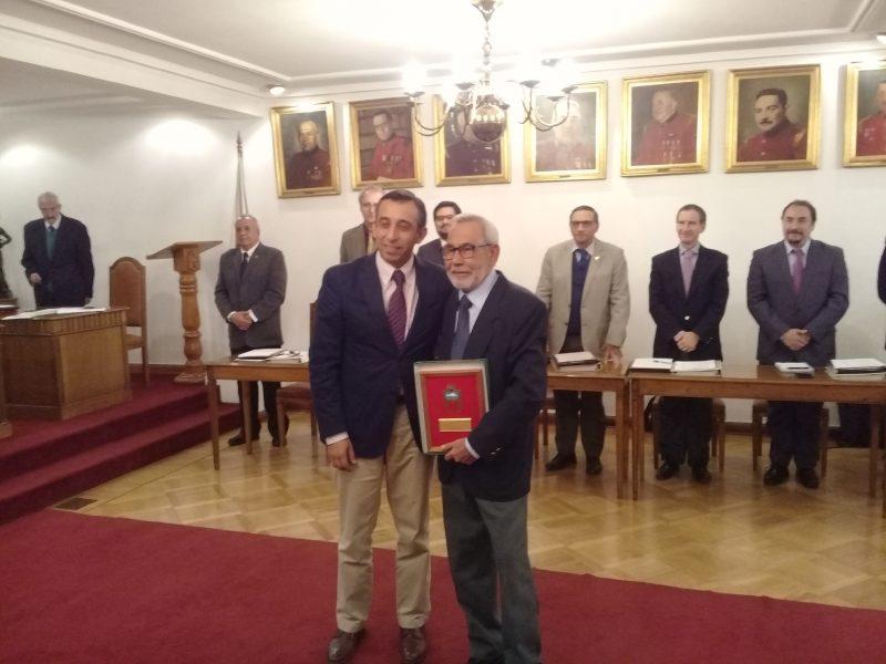 50 AÑOS DE SERVICIOS VOLUNTARIO HONORARIO MARTÍN REYES ZAMORANO
