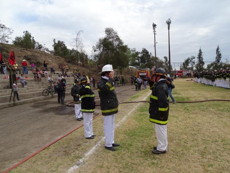 EJERCICIO GENERAL DE BRIGADAS JUVENILES DEL CUERPO DE BOMBEROS DE ÑUÑOA